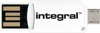 Cititor carduri Integral On-The-Go microSDHC/XC USB, microUSB