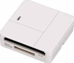 Cititor de Carduri Hama Basic USB 2.0 SD microSD CF MS Alb Cititoare de Carduri