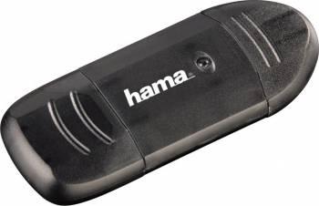 Cititor de Carduri Hama USB 2.0 Card Reader, SD,  Negru Cititoare de Carduri