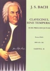 Clavecinul bine temperat pentru pian caietul 2 - J.S. Bach