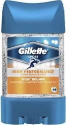 Deodorant stick Gillette Clear Gel Power Beads Sport Triumph