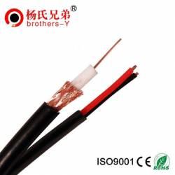 Coaxial cu alimentare siamez rg59 cablu rola 50 m pentru camere supraveghere Cabluri Retea