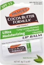 Balsam de buze Palmers Cocoa Butter Formula Moisturizing SPF 15 And Mint