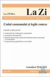 Codul consumului si legile conexe Act 25.04.2012