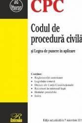 Codul de procedura civila act. 7 noiembrie 2017