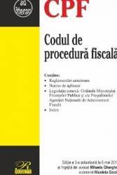 Codul de procedura fiscala act. 8 mai 2017