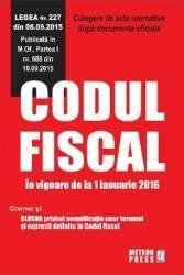 Codul Fiscal In Vigoare De La 1 Ianuarie 2016 Carti