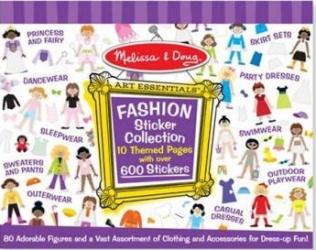 Colectia de abtibilduri Parada de moda Melissa and Doug Jucarii