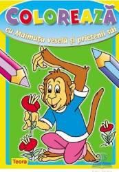 Coloreaza cu maimuta vesela si prietenii sai