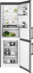 Combina frigorifica AEG RCB63326OX 283L A++ Termostat reglabil Dezghetare automata Inox Frigidere Combine Frigorifice