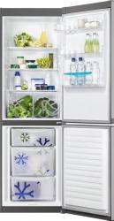 Combina frigorifica Zanussi ZRB36101XA 337L A+ Termostat reglabil Gri Frigidere Combine Frigorifice