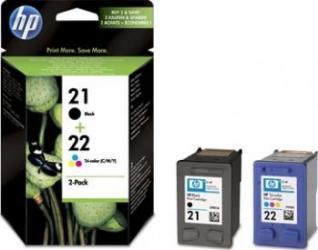 Combo-pack HP 21 22 Inkjet Print Cartridges Cartuse Tonere Diverse