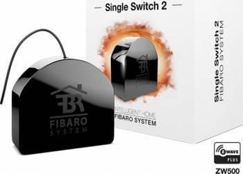 Comutator Fibaro Mono 1x 2.5kW Negru Kit Smart Home si senzori