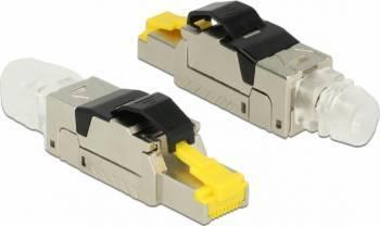 Conector de ansamblat Delock RJ45 cat 6A metal Accesorii retea