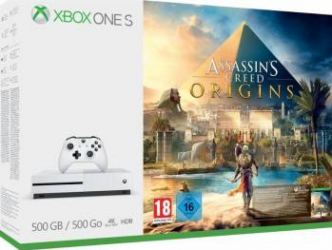 Consola Microsoft Xbox One S 500GB + Assassins Creed Origins Console jocuri