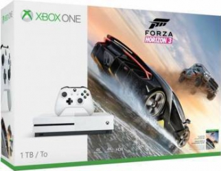 Consola Microsoft Xbox One S 1TB Alb + Joc Forza Horizon 3 Console jocuri