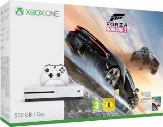 Consola Microsoft Xbox One S 500 GB White + Forza Horizon 3 Console jocuri
