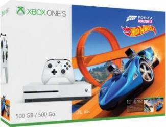 Consola Microsoft Xbox One S 500GB + Forza Horizon 3 + Hot Wheels Console jocuri