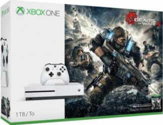 Consola MICROSOFT Xbox One Slim 1TB, alb + Joc Gears of War 4 (cod download)