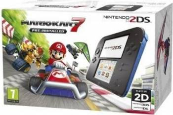 Consola Nintendo 2ds Special Edition Negru Albastru + Joc Mario Kart 7