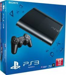 Consola SONY Play Station 3 Super Slim 12GB Blu-Ray Neagra
