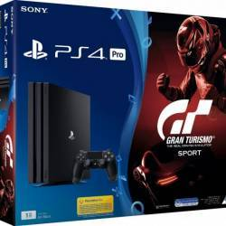 Consola Sony PlayStation 4 Pro 1TB Black + Gran Turismo Sport Console jocuri