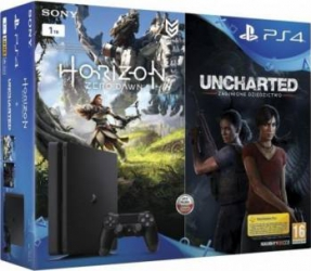 Consola Sony Playstation 4 Slim 1TB + Horizon Zero Dawn + Uncharted: The Lost Legacy Console jocuri
