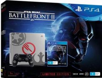 Consola Sony PlayStation 4 Slim 1TB Black Limited Edition + Star Wars Battlefront II Console jocuri