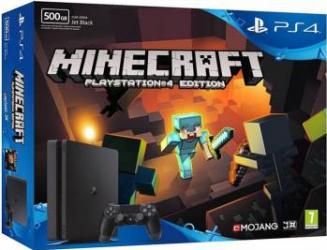 Consola Sony PlayStation 4 Slim 500GB + Minecraft Console jocuri