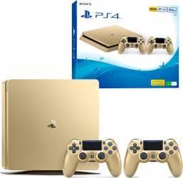 Consola Sony Playstation 4 Slim 500GB Gold + Extracontroller Console jocuri