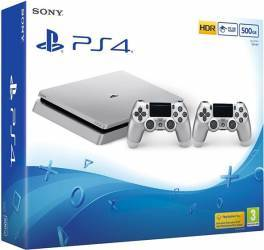 Consola Sony Playstation 4 Slim 500GB Silver + Extracontroller Console jocuri