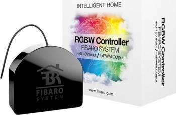 Controller RGBW Fibaro Negru Kit Smart Home si senzori
