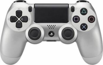 Controller Sony Dualshock 4 V2 pentru PlayStation 4 Silver Gamepad & Joystick
