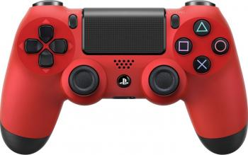 Controller Wireless Sony DualShock 4 Rosu V2 Gamepad & Joystick