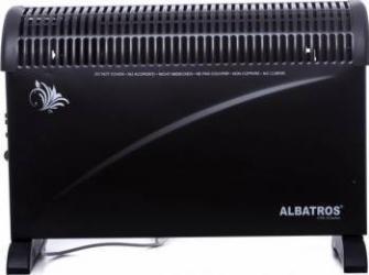 Convector electric Albatros CTB-22TURBO 2000W Termostat reglabil 3 trepte de putere Negru Aparate de incalzire