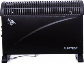 Convector electric Albatros CTB-22TURBO 2000W Termostat reglabil 3 trepte de putere Negru