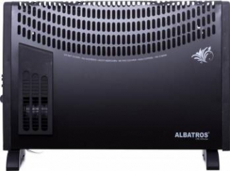 Convector electric Albatros CTB-24Turbo 2000W Functie turbo Termostat reglabil Negru