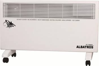 Convector electric Albatros TC-2000A 2000W termostat reglabil Alb Aparate de incalzire