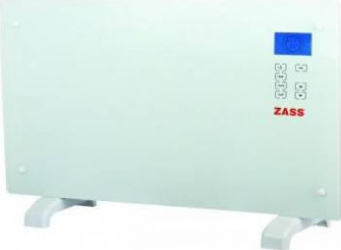 pret preturi Convector electric de podea Zass ZKG 01 2000W Suprafata de sticla Touch screen Afisaj LCD 3 functii Alb