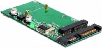 Convertor Delock SATA 22 Pini + USB 2.0 la mSATA full size Accesorii
