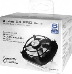 Cooler procesor Arctic Cooling 92mm Alpine 64 Pro Rev. 2 Coolere componente