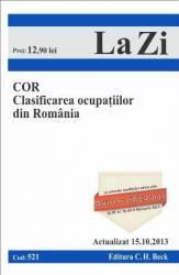 COR Clasificarea ocupatiilor din Romania Act. 15.10.2013