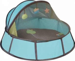 Cort Babymoov Anti-UV Babyni 2 in 1 Taupe Premium Blue  Corturi si Casute copii