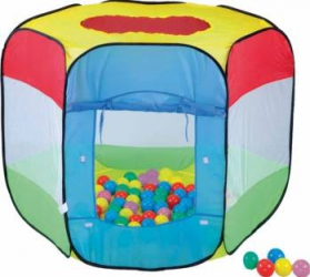 Cort de joaca cu 100 bile Bendix Corturi si Casute copii