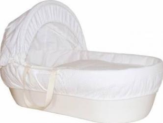 Cos bebelus Shnuggle Ivory Patut bebe,tarcuri si saltele