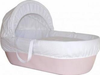 Cos bebelus Shnuggle roz Patut bebe,tarcuri si saltele