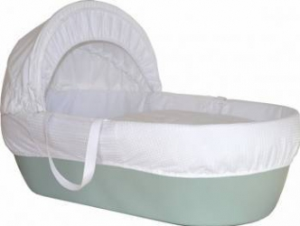 Cos bebelus Shnuggle verde Patut bebe,tarcuri si saltele