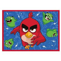 COVOR FEATHERED and FURIOUS ANGRY BIRDS 95X133CM Covoare