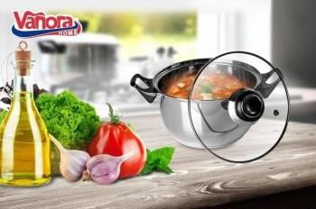 Caserola inox + capac 18x10.5cm 2.2 L PRIMO Vase pentru gatit