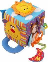 Cub cu activitati multiple Happy Animals Jucarii de Plus